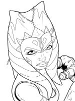 Ahsoka line art by forcecrush