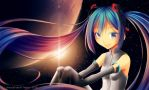 Hatsune in Space by chocogingerfingers