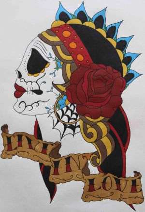 day of the dead skull tattoo designs tribal name tattoo designs