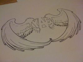 YAB t-shirt design. -wings- by Artestie
