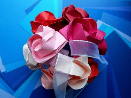 Kusudama Dafina - 5-inch Origami Ornament 4 by Fail-to-Pale