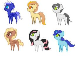 More Chibi Pony Adopts by LimeFire-MLP-Adopts