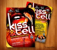 Kiss and Tell Flyer by innografiks