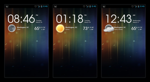 Android Weather Clock Widget Concept by krazy3