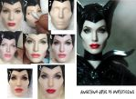 Angelina Jolie Maleficent doll Repaint Process by noeling