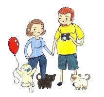 Adventure Time Inspired Family Portrait by bunniesbysarah