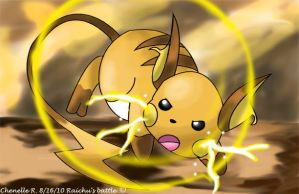 Raichu's battle by Phatmon66