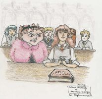 Umbridge vs. Hermione by mjOboe