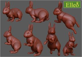 Bunny by leo3dmodels