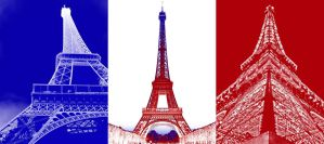 Eiffel Tower: French Flag by wiwijumbo
