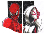 Spider-Man and Spider-Gwen by tontentotza