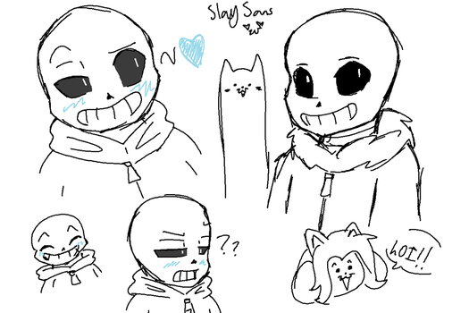 sans and dogs by p1nkam3na