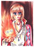 Howl and Calcifer by hesxmyxinu