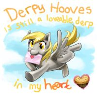 Derpy Hooves is still a lovable derp in my heart~ by slifertheskydragon