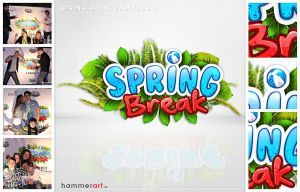 Spring Break Logo by razr-designs