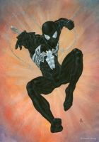 00 Black Symbiote Spider Man by bushande