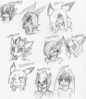 pokemon furries sketches by Ruxikah