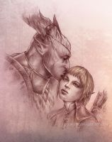Dragon Age: Inquisition, Friendly kiss by Agregor