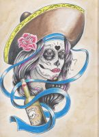 day of the dead girl w bottle by charlesbronson777