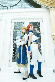 Hisoka and Kurapika 4 Katsucon 2017 by sarita1893