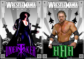Taker vs HHH art deco WM 27 by Photopops