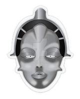 Metropolis Sticker by VethBlack