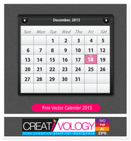 Free Vector Calender 2013 by Creativologypk