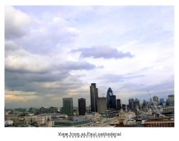 view from st.paul cathederal, by MaheZ