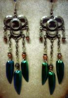 Beetle Wing Danglers by Anocken