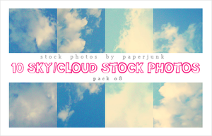 Stock Pack 08: Clouds by PaperJunk