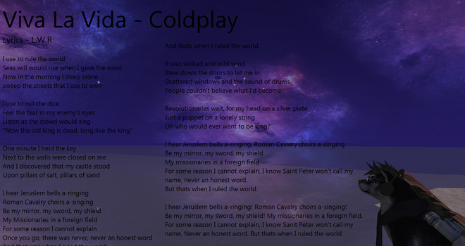 Coldplay - Viva La Vida by LoneWolfRival