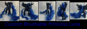 Custom Brushable Princess Luna by Gryphyn-Bloodheart