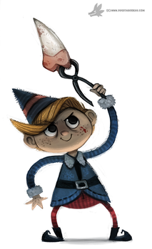 Day 763. That dentist elf from Rudolph by Cryptid-Creations
