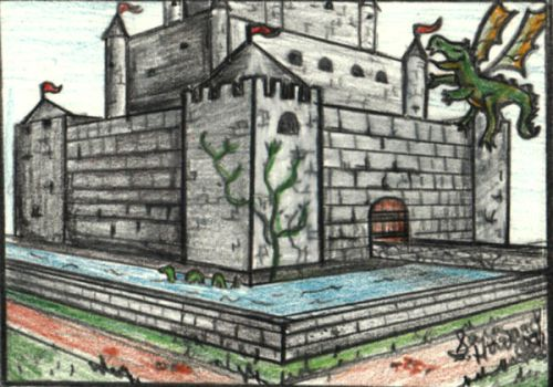 Castle ACEO by garciagirl