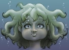 Alice Under Water Sketch by hglucky13