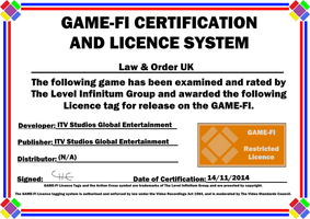 Law & Order UK Game-Fi Certificate by LevelInfinitum