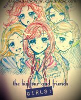 the big four and friends G I R L S! [quick doodle] by heriumu-kaji