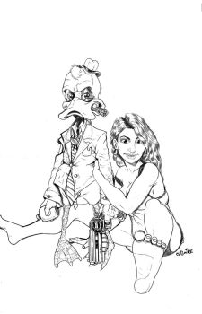 Howard the Duck and Beverly by cvilaire