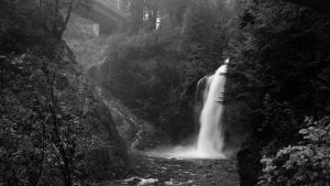 Franklin Falls (B+W) by MeGreedy