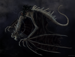 Nazgul riding a Fellbeast by Ruth-Tay