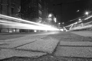 Black and white street lights by 13love88