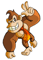Donkey Kong on the Move by JamesmanTheRegenold