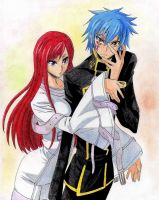 Fairy Tail/Code Geass, Gerard x Erza by Mikaru-nyan