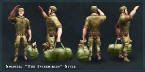 Soldier - Incredibles Style by Waterbear