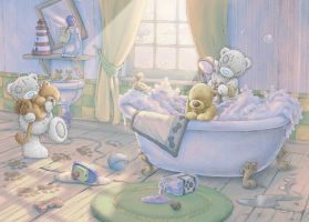 Tatty Teddy Bathtime by ShaneMadeArt