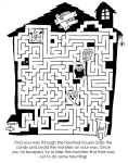Haunted House Maze by PlummyPress