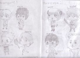 Gintama Chibis by happyfayes