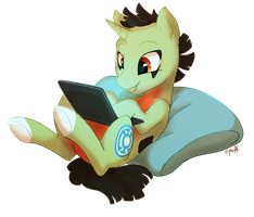 Commission: Larvitar Pony by C-Puff