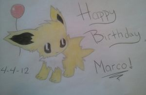 Happy Birthday Jolteon by XxLivingWellxX
