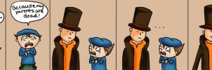 Professor Layton Comic by littlealliegator